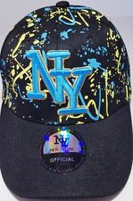 CASQUETTE NY NEW YORK BASEBALL NOIR PEINTURE MULTICOLORE ORIGINAL HIP HOP