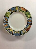 """4 Majesticware  Citrus Labels by ONEIDA Bread/Butter Plates Set of 6.5"""""""