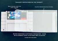 10 SUPER NINTENDO .50mm THICK VIDEO GAME SNES CARTRIDGE PROTECTOR CUSTOM CASE