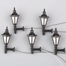10pcs 1:75 Model Railway Led Lamppost Lamps Wall Lights OO Scale 3V