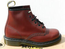 Dr Martens 101 Smooth Chaussures 41 Bottes Bottines 1460 Cherry Rouge UK7 Neuf
