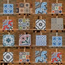Victorian Mexican Style Rectified Matt Ceramic 30x30cm Wall and Floor Tiles