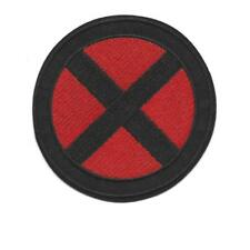 "X-MEN IRON ON PATCH 3.75"" Red Black X Comic Book Super Hero Embroidered Applique"