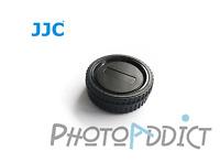 JJC L-R5 Bouchon de boitier + arrière d'objectif pour Olympus Leica Monture 4/3