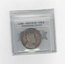 **1910 EL**Coin Mart Graded, Canadian, 50 Cent, **VG-8**