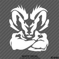 Dodge Ram Head Tough Muscle Style B Vinyl Decal Sticker - Choose Color