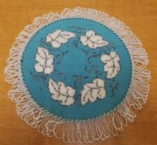 Antique Victorian Beadwork Embroidery. Mid 19th Century. Lovely Condition.