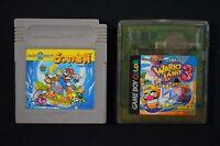 Super Mario Land 2 and 3 6 Golden Coins / Wario Land Japanese Nintendo GameBoy