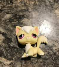Littlest Pet Shop Yellow and White Angora Long Hair Cat # 364 Rare
