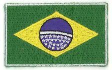 Fahnenaufnäher Flaggen Aufnäher Brasilien Brasil 6,5x4cm mit Bügelrückseite