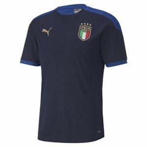 Puma Fußball FIGC Italia Trainingstrikot Fußballtrikot Herren navy