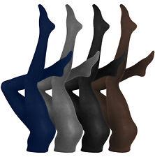 Warme Damen Baumwoll Strumpfhose, Strickstrumpfhose Uni Farben