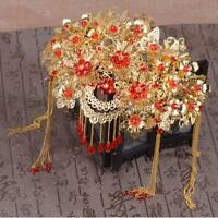 Chinese style Retro Elegant Crystal Wedding Prom Bridal Headdress Accessory