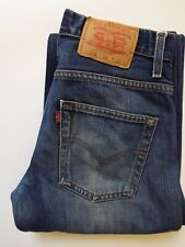 LEVI'S 516 JEANS MEN'S FLARED BOOT CUT W28 L34 DARK BLUE STRAUSS LEVS036