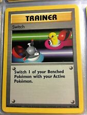 95/102 COMMON TRAINER SWITCH ORIGINAL 1999 BASE Pokemon Card UNPLAYED NM-M