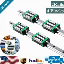 2Pc Hgr20 300 400 600 800 1000 1500mm Linear Guide Rail+4Pc Hgh20Ca Slider Block