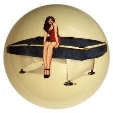 Pool/Billiards NEW! Pin-Up with Pool Table Collector's Cue Ball January Limited