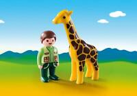 Playmobil 9380 - 123 Zookeeper with Giraffe - NEW!!