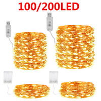 100/200LED Tree Vine Fairy String Light/USB Copper Wire String Lights Home Decor