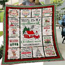 Christmas Quilt Blanket, My Hallmark Christmas Movie Watching Quilt Blanket
