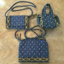 3 FOR 1 VERA BRADLEY FRENCH BLUE CROSSBODY SHOULDER BAG & WALLET PLUS SMALL BAG