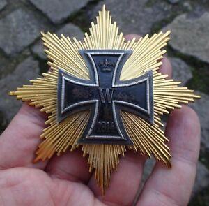 Bruststern zum Eisernen Kreuz  1914- alte  Nachfertigung mit original EK I 1914