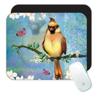 Gift Mousepad : Orange Cardinal Bird Grieving Lost Loved One Grief Healing