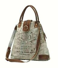 Myra Bags Vintage Gerster Upcycled Canvas Crossbody Bag for Women and Handbag