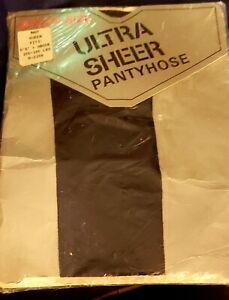 Vintage Ultra Sheer Pantyhose Navy Queen Sealed