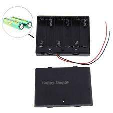 6x New 2 AA 2A Battery 9V Clip Holder Box Case with ON/OFF Switch Black