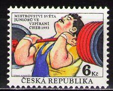 Czech Rep. 1993 Sc2884 Mi81.0 MiEu 1v mnh Intl. Junior Weight Lifting Champ.