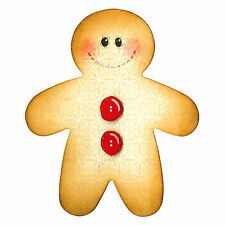 Sizzix Bigz Gingerbread Man die #A10150 Retail $19.99 What Fun!  Cuts Fabric!!