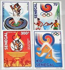 SENEGAL 1988 983-86 786-89 Summer Olympics Seoul Mascot Sport Olympia MNH