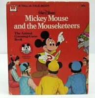 Walt Disney Mickey Mouse And The Mouseketeers Book Vintage 1977 Whitman