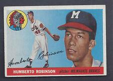1955 Topps #182 Humberto Robinson Milwaukee Braves EX Plus