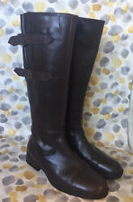 L LAMBERTAZZI LADIE BROWN LEATHER KNEE HIGH BOOTS SIZE 4 UK 37 EUR