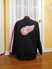 Pre-Owned Black Starter Detroit Red Wings Windbreaker Zip Jacket Size XL