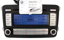 VW RCD 300 Radio mit Code Karte Passat Golf Caddy Jetta EOS Touran T5