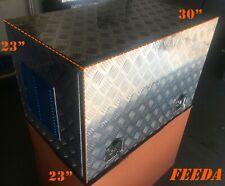 "30"" 23"" 23"" Aluminum Generator Box Truck Tool Trailer Tread Storage Bed"
