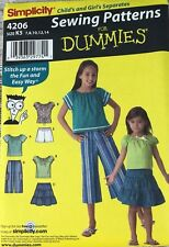 Uncut Simplicity 4206 7 8 10 12 14 Sewing for Dummies Girls Casual Clothing