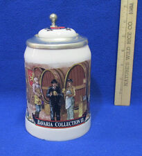 Strohs Beer Stein Lidded Pewter Lid Bavaria Collection III Beer Tasting Making