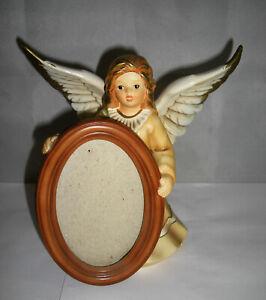 Engel mit Bilderrahmen - Figur von Goebel - Champagner