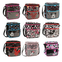 Disney Mickey n Minnie Mouse Baby Bottle Diaper Bag Lunch Tote Bag Small NEW