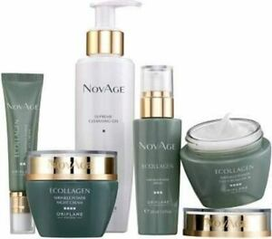 Oriflame NovAge Ecollagen Wrinkles Skin & Anti Aging Solution Kit 5 Pcs Set 35+