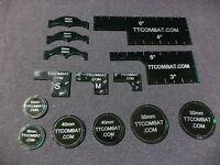 TTCombat Templates, Designed for Warmachine (Dark Green)