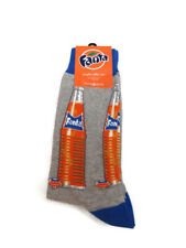 Fanta Graphic Cotton Crew Socks Grey and Orange Soda Mens