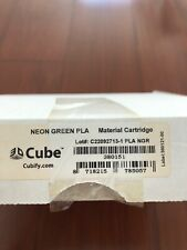 NEW CUBIFY Material Cube Cartridge Neon Green PLA 380151