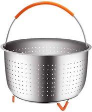 Original Sturdy Steamer Basket Stainless Steel Steam 6, 8 Qt Pressure Cooker