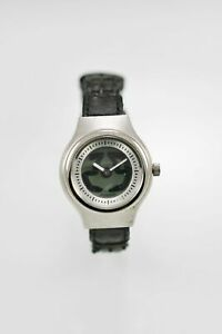 Fossil Big Tic Womens Watch Leather Black Stainless Silver 50m Batt Gray Quartz