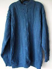 COOGI Australia Sweater XL Blue Cable Knit Crew Neck Biggie Smalls 90s